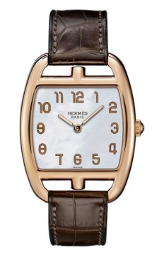 Hermes Cape Cod Tonneau Quartz Medium GM Ladies watch, model number - 037752WW00, discount price of £10,980.00 from The Watch Source