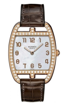 Hermes Cape Cod Tonneau Quartz Medium GM Ladies watch, model number - 037753WW00, discount price of £17,460.00 from The Watch Source