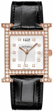 Hermes H Hour Quartz Large TGM Midsize watch, model number - 037974WW00, discount price of £21,636.00 from The Watch Source