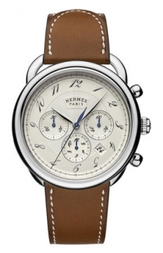 Hermes Arceau Automatic Chronograph 43mm Mens watch, model number - 038694WW00, discount price of £4,032.00 from The Watch Source