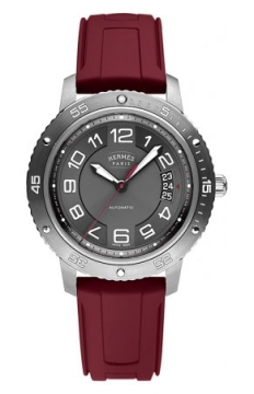 Hermes Clipper Sport Automatic TGM 41mm Mens watch, model number - 038912WW00, discount price of £2,547.00 from The Watch Source