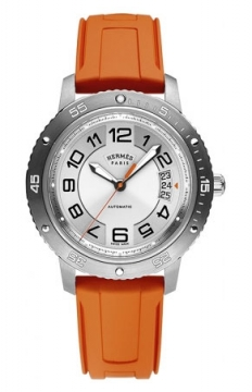 Hermes Clipper Sport Automatic TGM 41mm Mens watch, model number - 038913WW00, discount price of £2,547.00 from The Watch Source