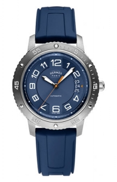 Hermes Clipper Sport Automatic TGM 41mm Mens watch, model number - 038914WW00, discount price of £1,981.00 from The Watch Source