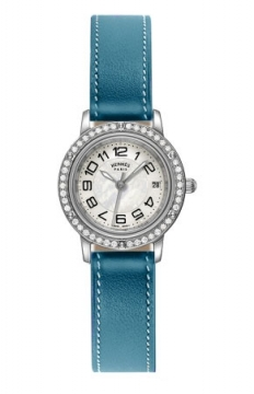 Hermes Clipper Quartz PM 24mm Ladies watch, model number - 038996WW00, discount price of £3,600.00 from The Watch Source