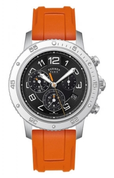 Hermes Clipper Chrono Alarm Quartz TGM 41mm Mens watch, model number - 039342WW00, discount price of £2,403.00 from The Watch Source