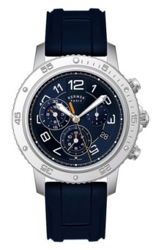 Hermes Clipper Chrono Alarm Quartz TGM 41mm Mens watch, model number - 039344WW00, discount price of £2,403.00 from The Watch Source