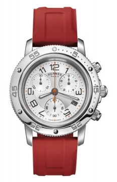 Hermes Clipper Chrono Quartz GM 36mm Midsize watch, model number - 039388WW00, discount price of £2,349.00 from The Watch Source