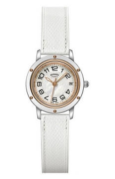 Hermes Clipper Quartz PM 24mm Ladies watch, model number - 039393WW00, discount price of £1,944.00 from The Watch Source