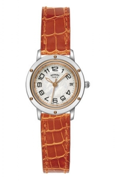 Hermes Clipper Quartz PM 24mm Ladies watch, model number - 039395WW00, discount price of £2,088.00 from The Watch Source