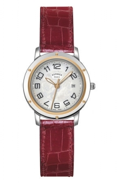 Hermes Clipper Quartz MM 28mm Ladies watch, model number - 039411WW00, discount price of £2,088.00 from The Watch Source