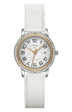 Hermes Clipper Quartz MM 28mm Ladies watch, model number - 039412WW00, discount price of £3,942.00 from The Watch Source