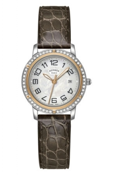 Hermes Clipper Quartz MM 28mm Ladies watch, model number - 039413WW00, discount price of £4,086.00 from The Watch Source
