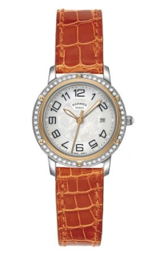 Hermes Clipper Quartz MM 28mm Ladies watch, model number - 039414WW00, discount price of £4,086.00 from The Watch Source