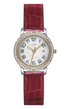 Hermes Clipper Quartz MM 28mm Ladies watch, model number - 039415WW00, discount price of £4,086.00 from The Watch Source