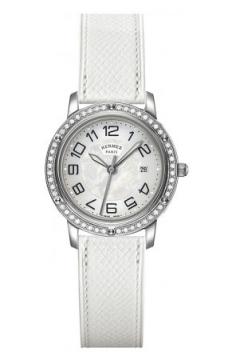 Hermes Clipper Quartz MM 28mm Ladies watch, model number - 039517WW00, discount price of £3,537.00 from The Watch Source