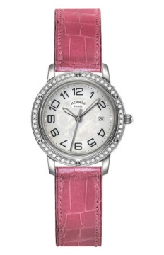 Hermes Clipper Quartz MM 28mm Ladies watch, model number - 039520WW00, discount price of £3,681.00 from The Watch Source