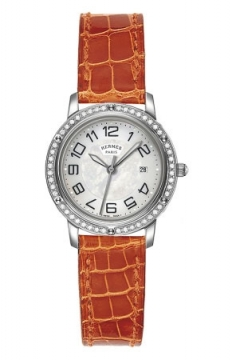 Hermes Clipper Quartz MM 28mm Ladies watch, model number - 039521WW00, discount price of £3,681.00 from The Watch Source