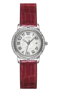 Hermes Clipper Quartz MM 28mm Ladies watch, model number - 039522WW00, discount price of £3,681.00 from The Watch Source