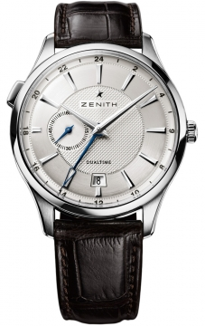 Zenith Elite Dual Time Mens watch, model number - 03.2130.682/02.C498, discount price of £4,382.00 from The Watch Source