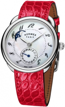 Hermes Arceau Petite Lune Automatic GM 38mm Ladies watch, model number - 040067ww00, discount price of £5,025.00 from The Watch Source