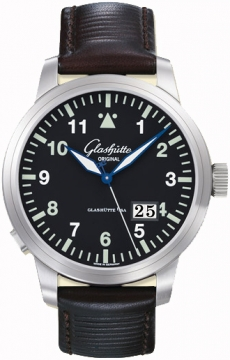 Glashutte Original Senator Navigator Panorama Date Mens watch, model number - 100-03-07-05-04, discount price of £5,525.00 from The Watch Source