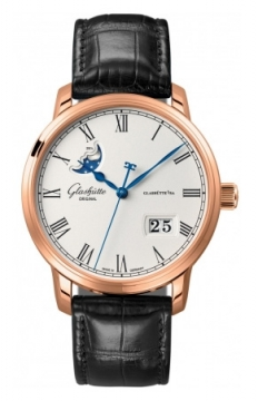 Glashutte Original Senator Panorama Date Moonphase Mens watch, model number - 100-04-32-15-04, discount price of £12,710.00 from The Watch Source