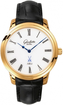 Glashutte Original Senator Meissen Mens watch, model number - 100-10-01-01-04, discount price of £12,420.00 from The Watch Source
