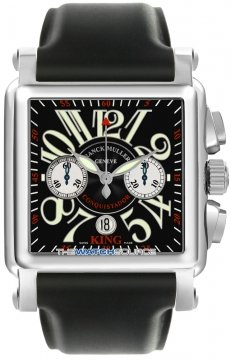 Franck Muller Conquistador Cortez Chronograph Mens watch, model number - 10000 K CC SS Black, discount price of £15,880.00 from The Watch Source