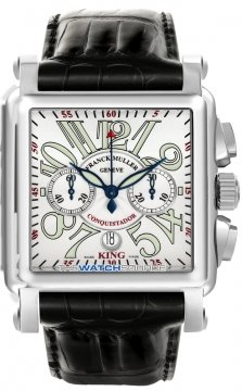 Franck Muller Conquistador Cortez Chronograph Mens watch, model number - 10000 K CC SS Silver, discount price of £15,880.00 from The Watch Source