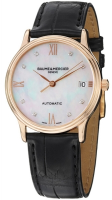 Buy this new Baume & Mercier Classima Automatic 36mm 10077 ladies watch for the discount price of £3,825.00. UK Retailer.