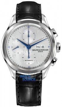 Baume & Mercier Clifton Chronograph Day Date Mens watch, model number - 10123, discount price of £2,130.00 from The Watch Source