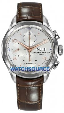 Buy this new Baume & Mercier Clifton Chronograph Day Date 10129 mens watch for the discount price of £2,451.00. UK Retailer.