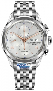 Buy this new Baume & Mercier Clifton Chronograph Day Date 10130 mens watch for the discount price of £2,635.00. UK Retailer.