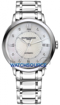 Buy this new Baume & Mercier Classima Automatic 36mm 10221 ladies watch for the discount price of £1,997.00. UK Retailer.