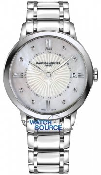 Buy this new Baume & Mercier Classima Quartz 36mm 10225 ladies watch for the discount price of £1,275.00. UK Retailer.