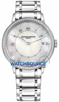 Buy this new Baume & Mercier Classima Quartz 36mm 10227 ladies watch for the discount price of £2,762.00. UK Retailer.