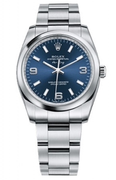 Rolex Air King Mens watch, model number - 114200 Blue Dial, discount price of £3,350.00 from The Watch Source