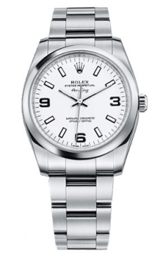 Rolex Air King Mens watch, model number - 114200 White Dial, discount price of £3,350.00 from The Watch Source