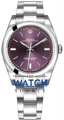 Rolex Oyster Perpetual 39mm 114300 Red Grape Oyster watch