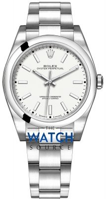 Rolex Oyster Perpetual 39mm 114300 White Oyster watch