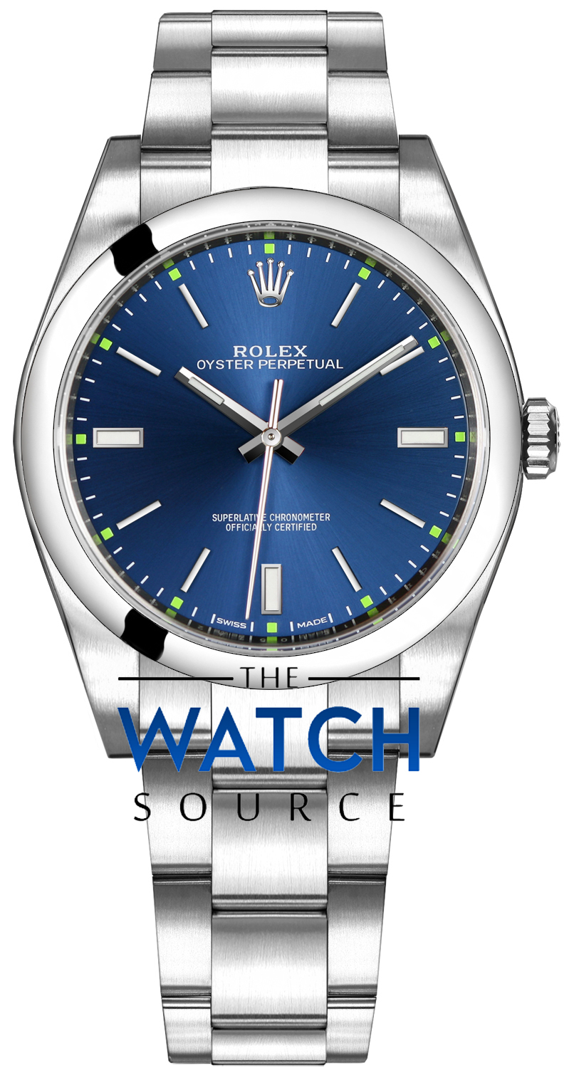 ss on from watches rolex blue sale oyster trusted htm w seller non bracelet date for quickset perpetual mm a stick