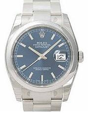 Rolex Datejust Mens watch, model number - 116200 Blue Dial, discount price of £4,500.00 from The Watch Source