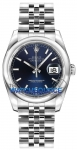 Rolex Datejust 36mm Stainless Steel 116200 Blue Index Jubilee watch