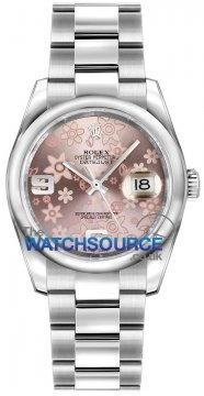 Rolex Datejust 36mm Stainless Steel 116200 Pink Floral Oyster watch