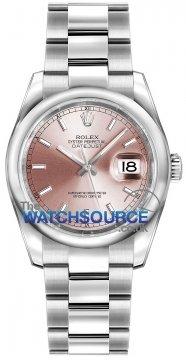 Rolex Datejust 36mm Stainless Steel 116200 Pink Index Oyster watch