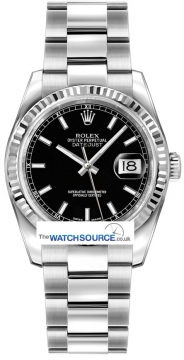Rolex Datejust Mens watch, model number - 116234 Black Dial, discount price of £5,780.00 from The Watch Source
