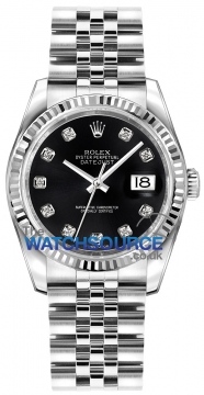 Rolex Datejust 36mm Stainless Steel 116234 Black Diamond Jubilee watch