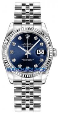 Rolex Datejust 36mm Stainless Steel 116234 Blue Diamond Jubilee watch