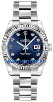 Rolex Datejust 36mm Stainless Steel 116234 Blue Diamond Oyster watch