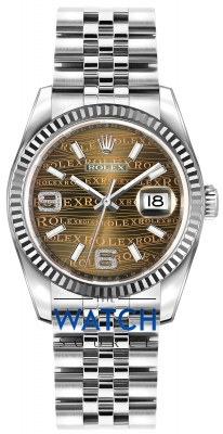 Rolex Datejust 36mm Stainless Steel 116234 Bronze Wave Jubilee watch